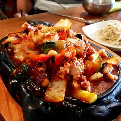 Spicy Octopus with Vegetables