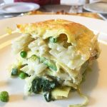 Lasagna with Green Vegetables Thai style