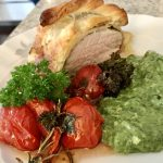 Pork Filet with Pesto in Puff Pastry