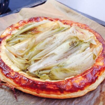 Cook-and-Lunch Recipes Puff Pastry Pizza Chicory Goat Cheese Food Explorers