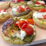 Puff Pastry Pizza with Goat Cheese and Pesto