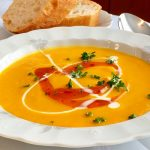 Pumpkin Soup with Mango