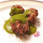 Grilled Lamb Meatballs with Salsa Verde