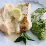 Cod with Minted Pea Puree